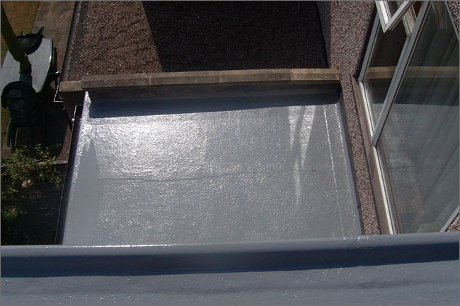 Image of the rear of the flat roof
