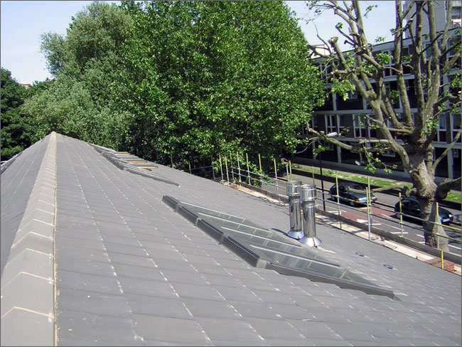 The finished ridge line of the Doctors surgery roof